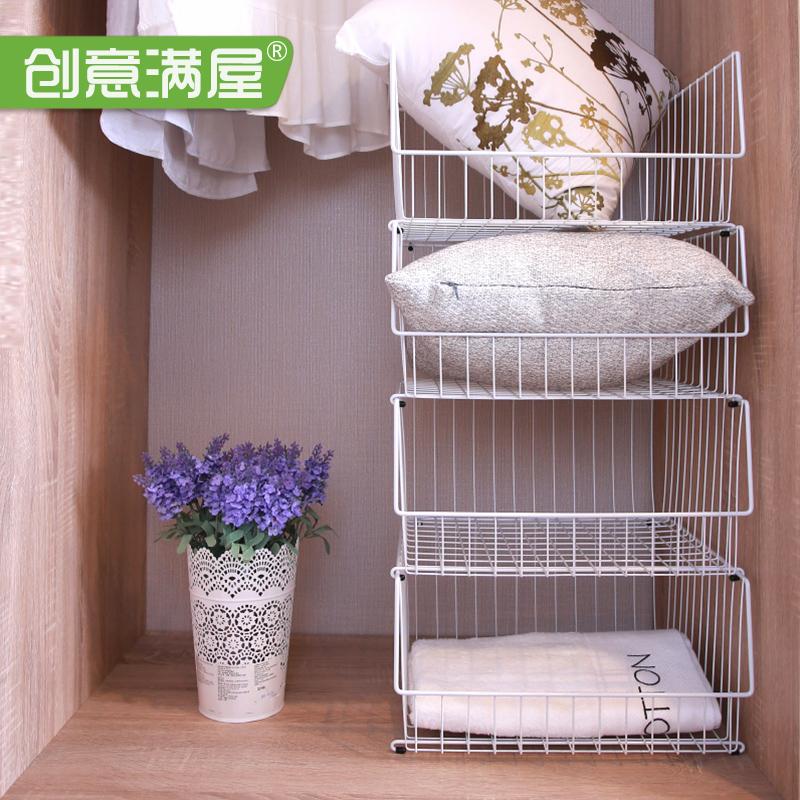 衣柜收纳整理多层架