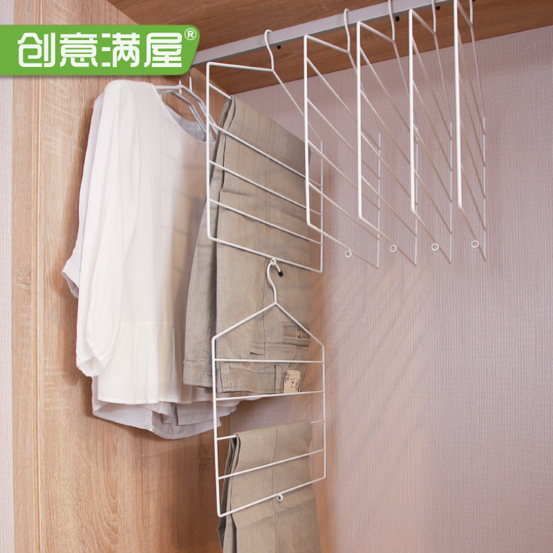 创意多层衣柜收纳架
