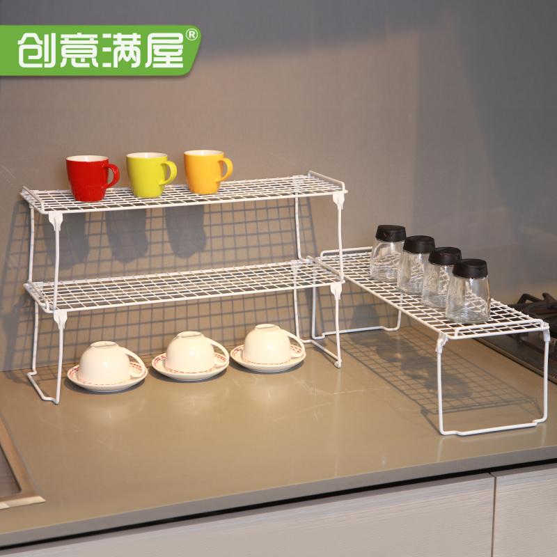 多层可叠加厨房整理架