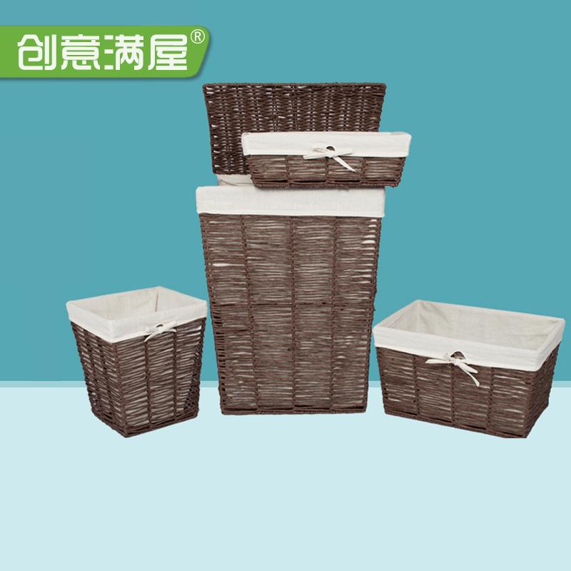 藤编脏衣篮