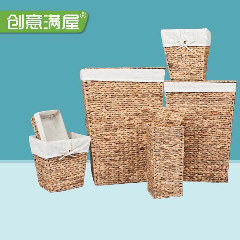 草编洗衣脏衣篮