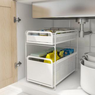 厨房下水槽置物架落地式