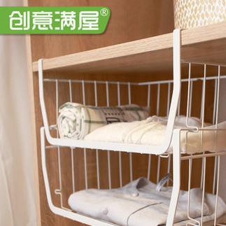 衣柜收纳分层隔板置物架
