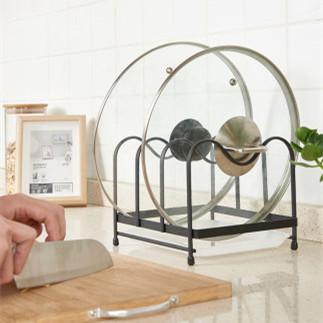 厨房家用坐式锅盖架