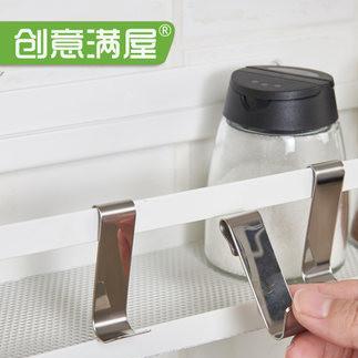 厨房挂钩304不锈钢免打孔