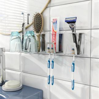 壁挂免打孔牙刷架
