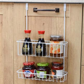 厨房收纳篮橱柜柜门挂篮