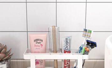 为浴室小空间扩容,这款小巧的置物架太绝了